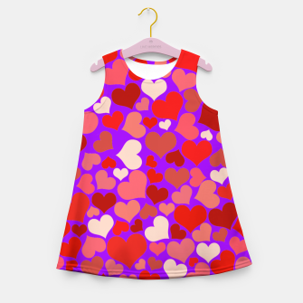 Thumbnail image of Hearts in purple Girl's summer dress, Live Heroes