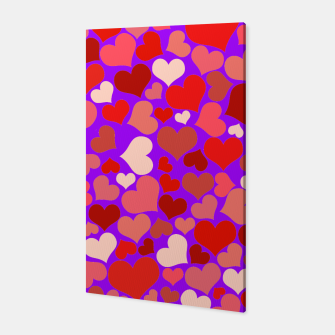 Thumbnail image of Hearts in purple Canvas, Live Heroes