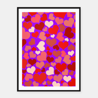 Thumbnail image of Hearts in purple Framed poster, Live Heroes
