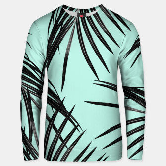 Thumbnail image of Black Palm Leaves Dream #2 #tropical #decor #art Unisex sweatshirt, Live Heroes