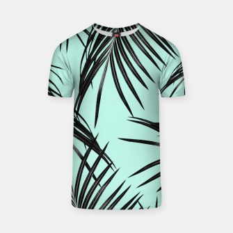 Thumbnail image of Black Palm Leaves Dream #2 #tropical #decor #art T-Shirt, Live Heroes