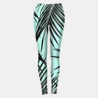 Miniature de image de Black Palm Leaves Dream #2 #tropical #decor #art Leggings, Live Heroes