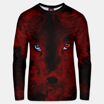 Thumbnail image of arctic fox bicolor eyes ws sub Unisex sweater, Live Heroes