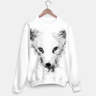 arctic fox bicolor eyes ws bw Sweater regular miniature