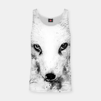 arctic fox bicolor eyes ws bw Tank Top miniature