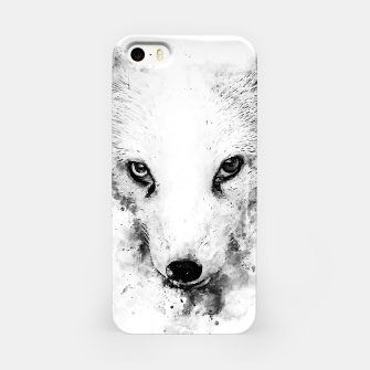 arctic fox bicolor eyes ws bw iPhone Case miniature