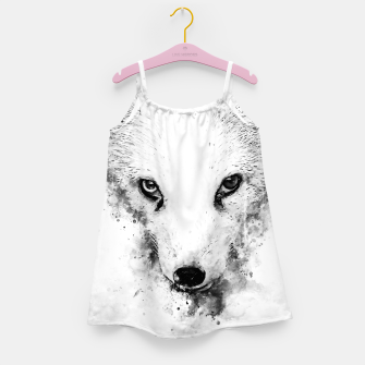 Thumbnail image of arctic fox bicolor eyes ws bw Girl's dress, Live Heroes