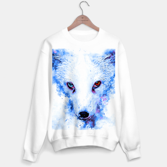 Thumbnail image of arctic fox bicolor eyes ws c80 Sweater regular, Live Heroes