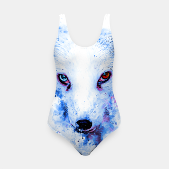 Thumbnail image of arctic fox bicolor eyes ws c80 Swimsuit, Live Heroes