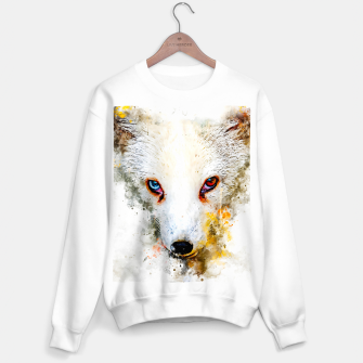 Thumbnail image of arctic fox bicolor eyes ws std Sweater regular, Live Heroes