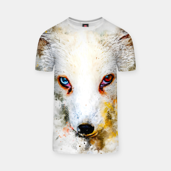 Thumbnail image of arctic fox bicolor eyes ws std T-shirt, Live Heroes