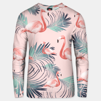 Thumbnail image of Blush Flamingo Palm Vibes #2 #pastel #tropical #decor #art Unisex sweatshirt, Live Heroes