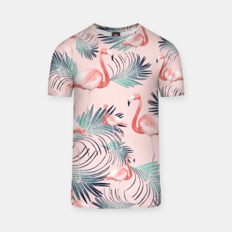 Thumbnail image of Blush Flamingo Palm Vibes #2 #pastel #tropical #decor #art T-Shirt, Live Heroes