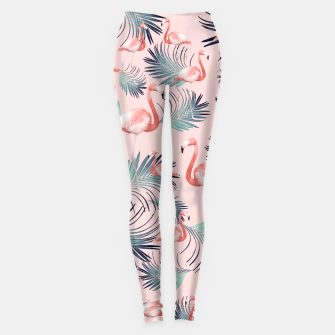Miniature de image de Blush Flamingo Palm Vibes #2 #pastel #tropical #decor #art Leggings, Live Heroes