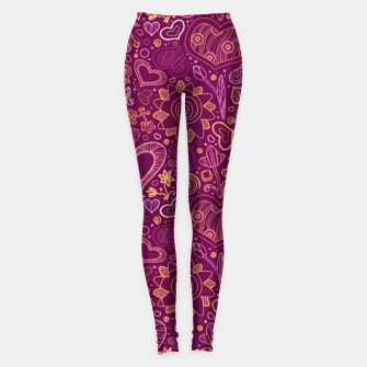 Miniature de image de Hearts in purple Leggings, Live Heroes