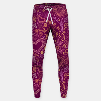 Thumbnail image of Hearts in purple Sweatpants, Live Heroes