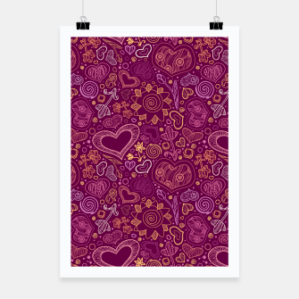 Thumbnail image of Hearts in purple Poster, Live Heroes