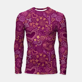 Thumbnail image of Hearts in purple Longsleeve rashguard , Live Heroes