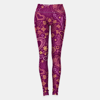 Thumbnail image of Hearts in purple Leggings, Live Heroes