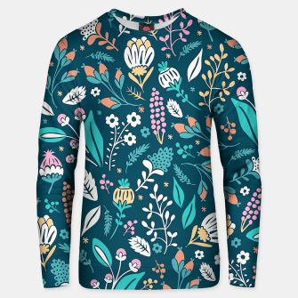 Miniatur Cute colorful mixed flowers pattern Unisex sweater, Live Heroes