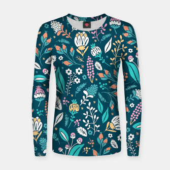 Miniatur Cute colorful mixed flowers pattern Women sweater, Live Heroes