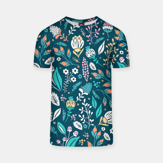 Thumbnail image of Cute colorful mixed flowers pattern T-shirt, Live Heroes