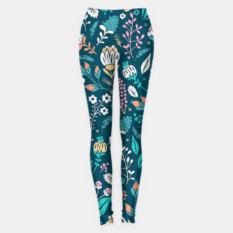 Miniature de image de Cute colorful mixed flowers pattern Leggings, Live Heroes