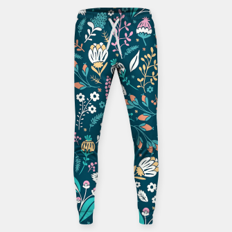 Thumbnail image of Cute colorful mixed flowers pattern Sweatpants, Live Heroes