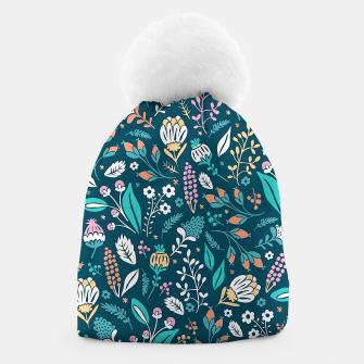 Miniatur Cute colorful mixed flowers pattern Beanie, Live Heroes