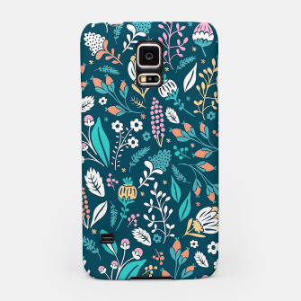 Miniatur Cute colorful mixed flowers pattern Samsung Case, Live Heroes