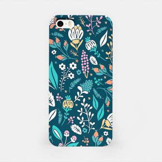 Miniatur Cute colorful mixed flowers pattern iPhone Case, Live Heroes