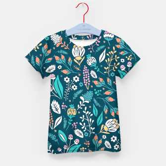 Miniatur Cute colorful mixed flowers pattern Kid's t-shirt, Live Heroes