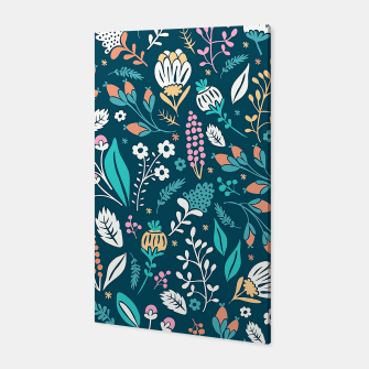 Miniatur Cute colorful mixed flowers pattern Canvas, Live Heroes