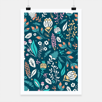 Miniatur Cute colorful mixed flowers pattern Poster, Live Heroes