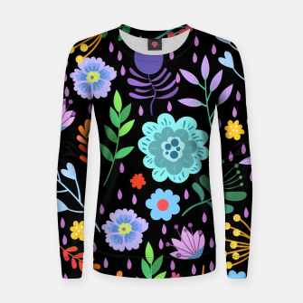 Thumbnail image of Cute colorfu flowers pattern Women sweater, Live Heroes