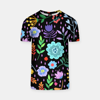 Thumbnail image of Cute colorfu flowers pattern T-shirt, Live Heroes
