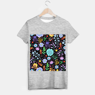 Thumbnail image of Cute colorfu flowers pattern T-shirt regular, Live Heroes
