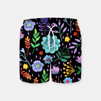 Thumbnail image of Cute colorfu flowers pattern Swim Shorts, Live Heroes