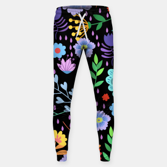 Thumbnail image of Cute colorfu flowers pattern Sweatpants, Live Heroes