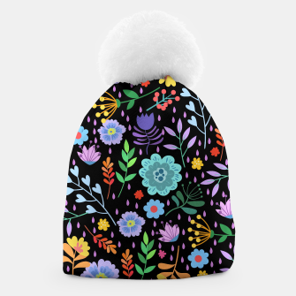 Thumbnail image of Cute colorfu flowers pattern Beanie, Live Heroes