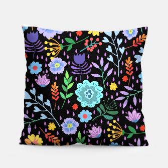 Thumbnail image of Cute colorfu flowers pattern Pillow, Live Heroes