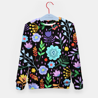Thumbnail image of Cute colorfu flowers pattern Kid's sweater, Live Heroes
