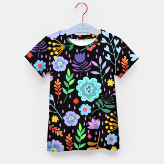 Thumbnail image of Cute colorfu flowers pattern Kid's t-shirt, Live Heroes