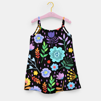 Thumbnail image of Cute colorfu flowers pattern Girl's dress, Live Heroes