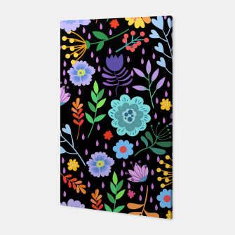 Thumbnail image of Cute colorfu flowers pattern Canvas, Live Heroes