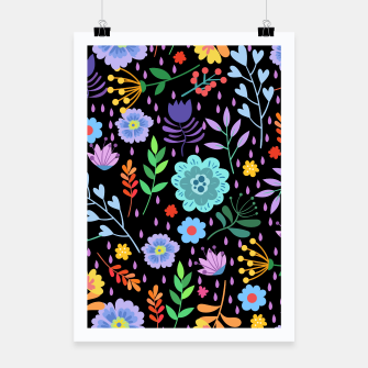 Thumbnail image of Cute colorfu flowers pattern Poster, Live Heroes