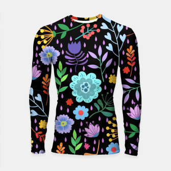 Thumbnail image of Cute colorfu flowers pattern Longsleeve rashguard , Live Heroes