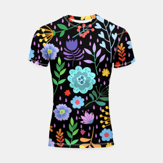 Thumbnail image of Cute colorfu flowers pattern Shortsleeve rashguard, Live Heroes