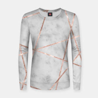 Thumbnail image of White Marble Rose Gold Geo Glam #2 #geo #decor #art Frauen sweatshirt, Live Heroes