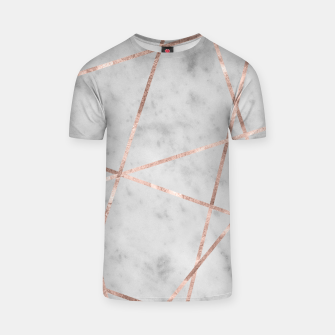 Thumbnail image of White Marble Rose Gold Geo Glam #2 #geo #decor #art T-Shirt, Live Heroes